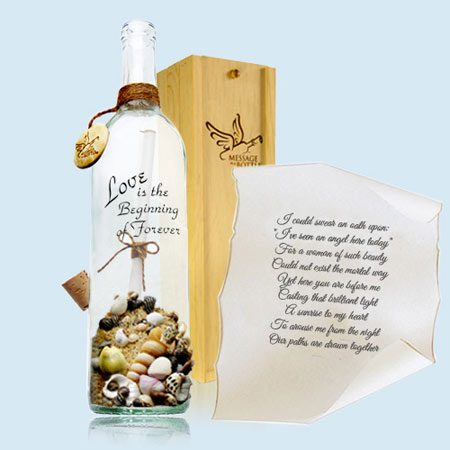 official message in a bottle website gifts and invitations