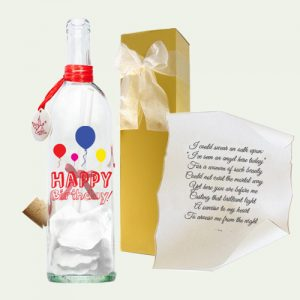 Happy Birthday Balloon gift by Message In A Bottle