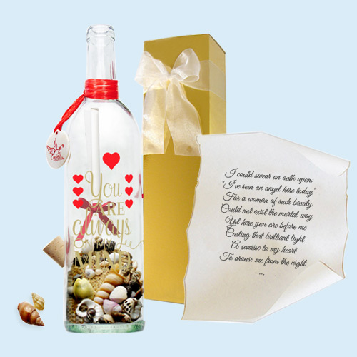 On My Mind gift by Message In A Bottle